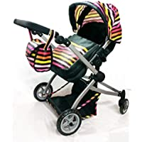BabybooデラックスLittle Marcel Lookツインベビーカー/ Pram with free carriageバッグ