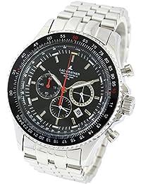 [ラドウェザー]メンズ腕時計 スイス製トリチウム クロノグラフ 回転ベゼル 100m防水 夜行インデックス 時計 lad031 (ブラック)