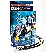 グッドリッジ GOODRIDGE Ebony2 ABS無し TRI フロント ブレーキライン +4 HD0128-3FPBK/BK+4 037141