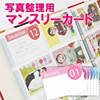 クラウンハート ポケットアルバム専用 マンスリーカード イベントカード 17枚セット【日本製】