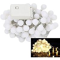 Smile LEDイルミネーションライト 10M 100球 防水LED小さなボールストリング  結婚式、ホームパーティー お誕生日パーティー クリスマスなどに最適 電飾 (シャンパンゴールド)