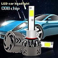 Jicorzo - 2PCS H1 H3 H7 H11 9005 9006 880 H4 H13 9004 9007 COB LED車のヘッドライトバルブ80W 8000LM 6000K自動車ヘッドランプ9V〜36Vのフォグランプ[9004 / HB1ハイ/ロー]