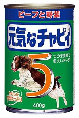 元気なチャピィ 成犬用 ビーフと野菜 400g×24缶入り  ドッグフード