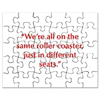 CafePress – We Reすべて同じRoller Coaster Just In Diffe – ジグソーパズル、30個。