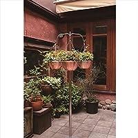 愛紳照明 San Francisco Flower 本体 #SO-63 ステンレス(SUS305)製 『銅製鉢植 DW300 ×3個 、吊り下げ金具 C300 ×3個 セット』 *植木は含まれません