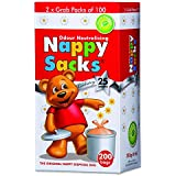 ICD Online Nappy Sacks The Orignal Nappy Disposal 200 Bags, 200 count, Pack of 200