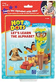 Educational Insights 2395 Hot Dots Jr. Let's Learn the Alphabet Interactive Book with Ollie The Talking, T