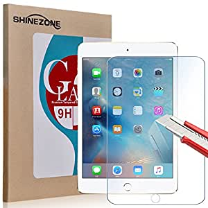 【ShineZone】Apple iPad mini 4 専用強化ガラスフィルム 日本製素材 国産ガラス採用  0.3mm 超薄型.表面硬度9H・飛散防止処理・ 気泡防止・高光沢 ・耐衝撃・指紋防止保護シール