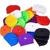 24 Stück Schlüssel Kappen Set Flexibel Key Covers für Einfache Identifizierung Türschlüssel, 8 Farben