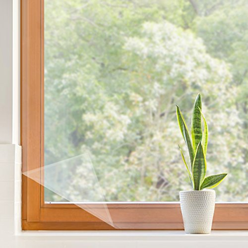 結露防止シート 二重窓原理 窓ガラス断熱シート 冷房効率アップ 隙間風対策 省エネフィルム 残りなし両面テープ付き すべて窓枠適用(158 x 535cm)