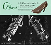 Cybrtrayd C118AB 3D Old Fashioned Santa Life of the Party Chocolate Candy Mould Bundle with 2 Moulds and Exclusive Cybrtrayd Copyrighted 3D Chocolate Moulding Instruction