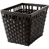 IKEA ASIA KNARRA バスケット、ブラック-ブラウン