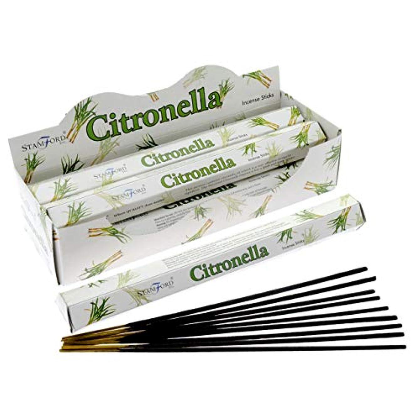 スロープ洋服大洪水Stamford Citronella Incense Sticks (Whole Case) by Stamford