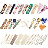 KECUCO Pearls Hair Clips for Women and Girls - 30 Pcs Fashion Korean Style Pearls Hair Barrettes Sweet Artificial Macaron Acrylic Resin Barrettes Hairpins for Women, Ladies and Girls Headwear Styling Tools Hair Accessories