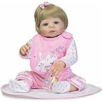 NPK collection Rebornベビー人形リアルな赤ちゃん人形ビニールシリコン赤ちゃん22インチ55 cmピンクセット人形ギフト