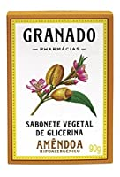 Linha Glicerina Granado - Sabonete em Barra Vegetal de Glicerina Amendoa 90 Gr - (Granado Glycerin Collection - Glycerin Vegetable Bar Soap Almond Net 3.2 Oz) by Granado