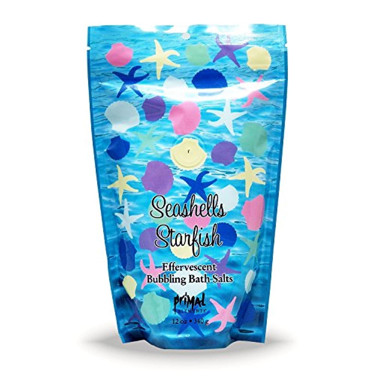 毒性避ける物理学者プライモールエレメンツ バブリング バスソルト/シーシェル&スターフィッシュ 340g エプソムソルト含有 アロマの香りがひろがる泡立つ入浴剤