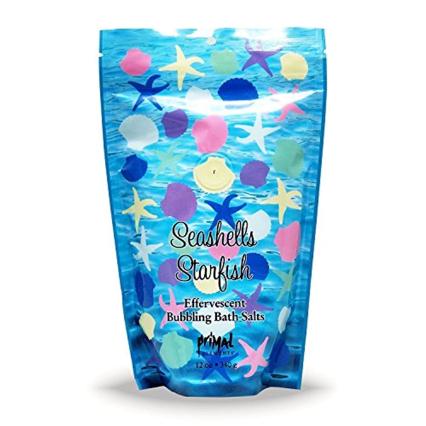 混乱した掃く伸ばすプライモールエレメンツ バブリング バスソルト/シーシェル&スターフィッシュ 340g エプソムソルト含有 アロマの香りがひろがる泡立つ入浴剤