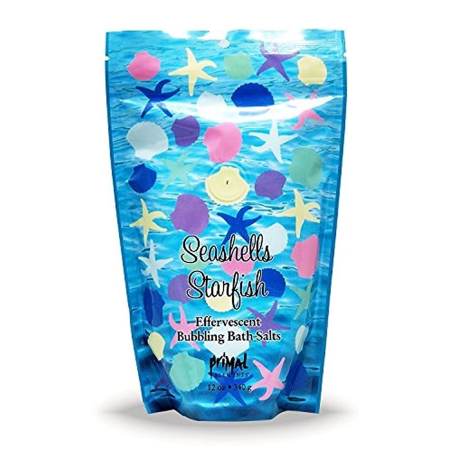 用心する人道的幾分プライモールエレメンツ バブリング バスソルト/シーシェル&スターフィッシュ 340g エプソムソルト含有 アロマの香りがひろがる泡立つ入浴剤