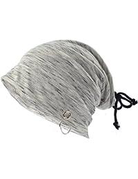 Ruphedy  ニット帽子 夏 ヘアバンド 2way使えるサマーニット帽子 伸縮性に優れたニットキャップ おしゃれ 紐付き 柔らかい 洗える BD