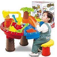 Liebeye 砂のおもちゃ 子供のビーチ テーブルの砂の遊びおもちゃ 赤ちゃん 水の砂の 浚渫ツール 色ランダム ビーチテーブル【9826カラーボックス】