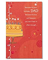 American Greetings You're Loved Birthday Card for Dad with Glitter [並行輸入品]
