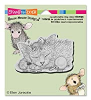 """Stampendous House Mouse Cling Rubber Stamp 4.5""""X4.75"""" Sheet-Friendly Dreams (並行輸入品)"""
