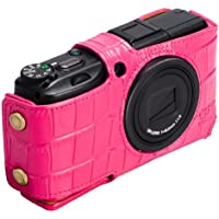 HAKUBA 本革ボディスーツ RICOH GR DIGITAL III用 クロコ調ピンク DBS-GR3CDPK