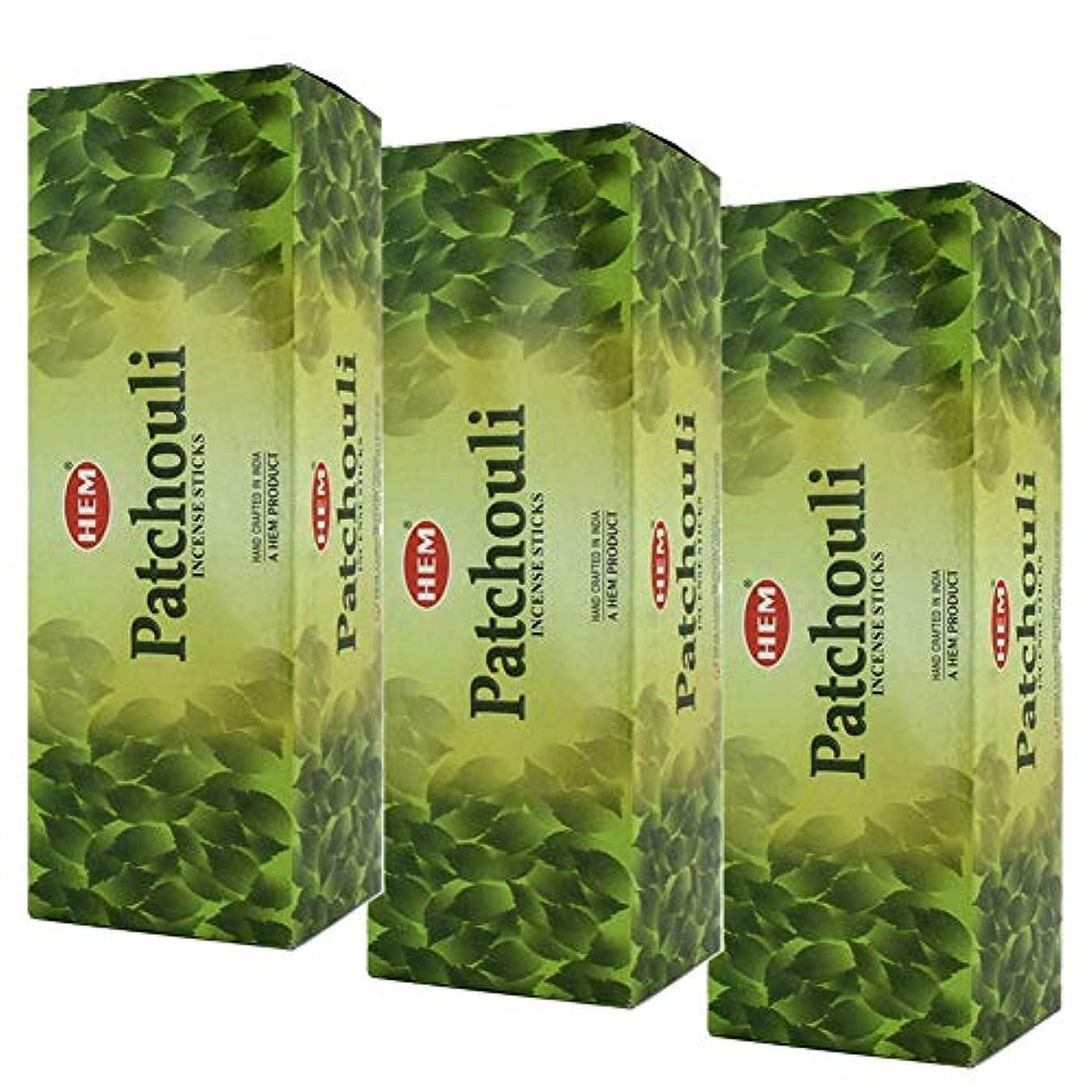 流産アルミニウム謙虚なHem Patchouli Incense、3ボックス – (360 Sticks per order) バルクOrder
