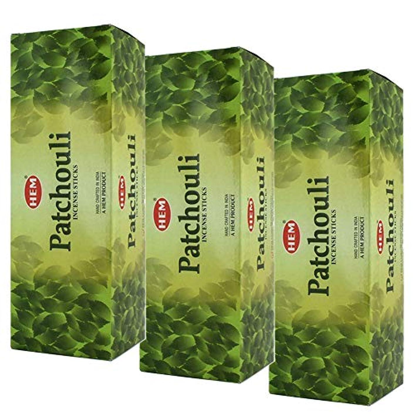 干渉する広くまでHem Patchouli Incense、3ボックス – (360 Sticks per order) バルクOrder