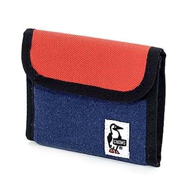 (チャムス) CHUMS 三つ折り財布 [スウェットナイロン] [Trifold Wallet] 1.ヘザーネイビーxトマト