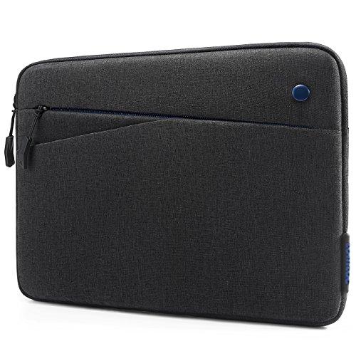 Tomtoc スリーブ ケース インナーケース(10.5インチ New iPad Pro | 9.7インチ New iPad 2017 | iPad Pro | iPad Air 2 | 10.1インチ Samsung Galaxy Tab ) スリムカバー対応 アクセサリーポケット付き、Appleスマートキーボード 対応、ブラック