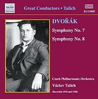 ドヴォルザーク:交響曲第7番, 第8番(チェコ・フィル/ターリッヒ)
