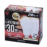 アイリスオーヤマ LED電球 E26口金 30W形相当 電球色 下方向タイプ 2個セット 密閉形器具対応 LDA3L-G-3T22P