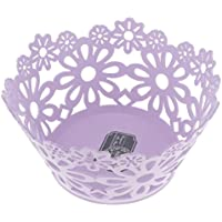 SM SunniMix 花の収納バスケット フルーツ 野菜 バスケット キャンディ ビスケット 収納 容器 耐久性 3色選べる - 紫