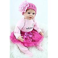bluexury174 ;ピンク小さなプリンセススカートRebornベビー人形22インチ