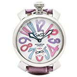 (ガガミラノ) GAGA MILANO ガガミラノ 時計 メンズ GAGA MILANO 5010.09S PURPLE MANUALE マヌアーレ 48MM スイス製 手巻き 腕時計 ウォッチ パープル/ホワイト [並行輸入品]