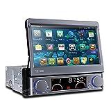 (D766A)1DIN Android 4.4 静電式マルチタッチ カーオーディオ 7インチ DVDプレーヤー 3G WIFI GPS ブルートゥース