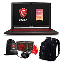 "MSI GS65 Stealth Premium Gaming Laptop (Intel 8th Gen i7-8750H 6-Core, 16GB RAM, 512GB PCIe SSD, 15.6"" FHD (1920x1080) 144Hz Thin Bazel, GeForce RTX 2060, Win 10 Pro) MSI Loot Box and Backpack"