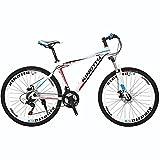 KINGTTU GTR 自転車 マウンテンバイク MTB 26インチマウンテンバイク アルミフレーム シマノ21段変速 ディスクブレ-キ (白いとコバルト) [並行輸入品]