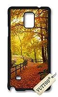 Samsung Note 4 ケース,Samsung N9100 ケースVUTTOO スタイリッシュなゴールド秋ハードケース Samsung Note 4専用ケース(ブラック) [並行輸入品]