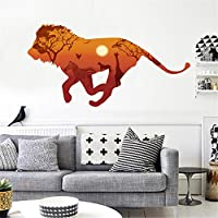 Lion Silhouette Home Room Decor Removable Wall Stickers Decal Decorations Vinyl Mural