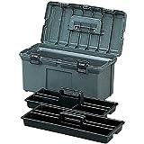 アイリスオーヤマ 工具箱 ハードケース 600 グレー【幅約53.6×奥行約28×高さ27.8cm】