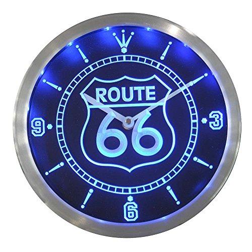 LEDネオンクロック 壁掛け時計 nc0315-b Route 66 Bar...
