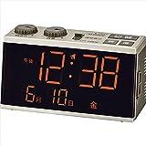 Amazon.co.jpらくらく電波時計 【おき型 置型 卓上 置時計 デジタル カレンダー 寝室 LED F7112-02】
