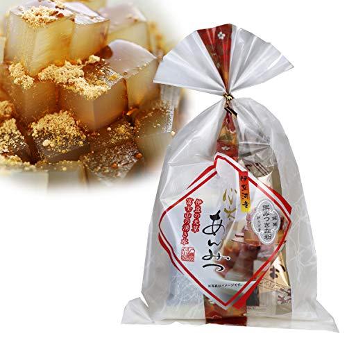 伊豆河童 黒蜜きな粉 あんみつ 国産 無糖きな粉 沖縄産黒糖100%黒蜜 使用 角切りところてん