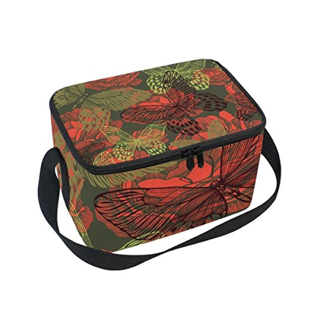 起点不完全求人クーラーバッグ クーラーボックス ソフトクーラ 冷蔵ボックス キャンプ用品  蝶柄 幻 透明 保冷保温 大容量 肩掛け お花見 アウトドア