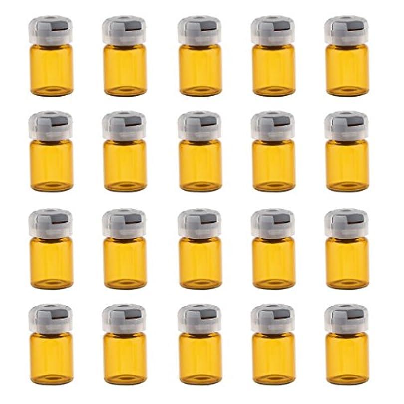 資産ユニークな望ましい約20個 空 バイアル 密封 滅菌バイアル ガラス 液体容器 3サイズ選べる - 5ml