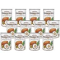 有機JAS認定 オーガニックココナッツミルク 400ml 缶 無添加/無着色/無保存剤/BPAフリー ココナツミルク (12缶(グァガム入り))