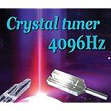 4096Hz クリスタルチューナー浄化用音叉(ヒマラヤ水晶ポイント付)【天然石】【パワーストーン】【開運】